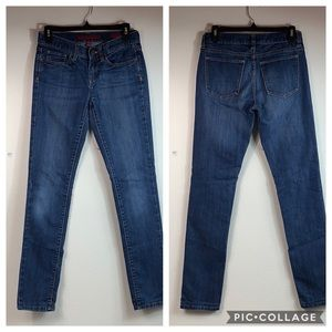 Banana Republic skinny stretch blue jeans EUC